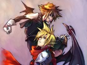 Nightmare Before Christmas Sora.Kingdom Hearts Sora Nightmare Before Christmas And Cloud