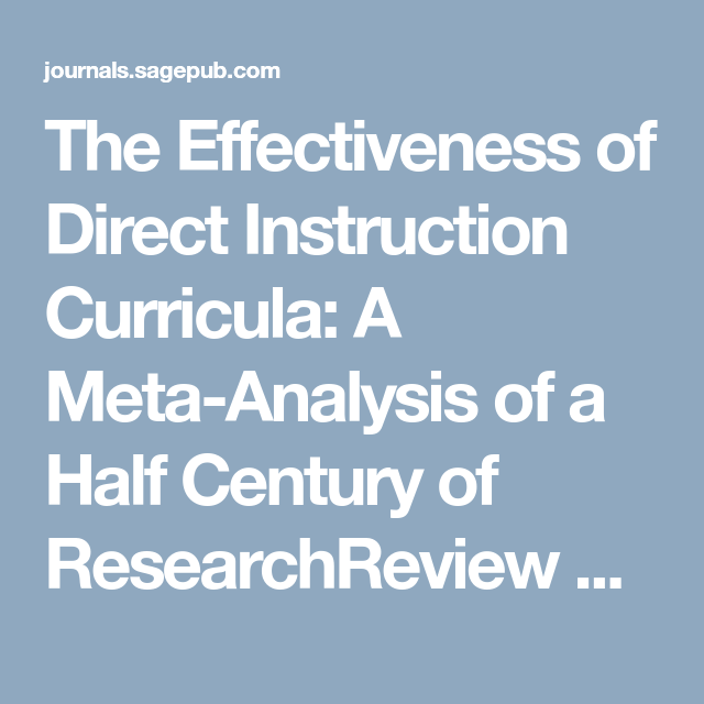 direct instruction research