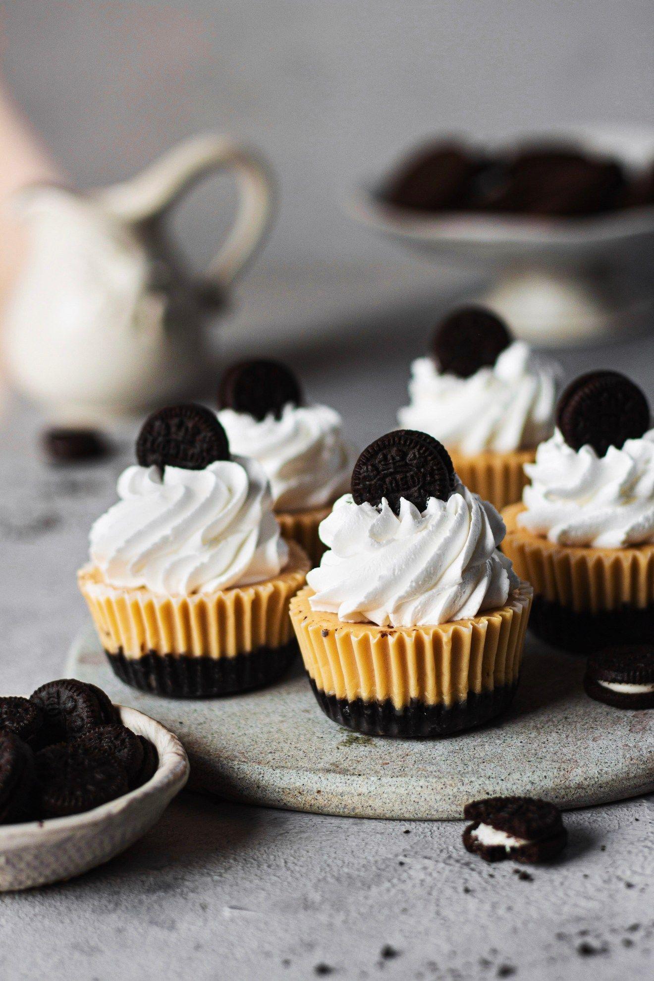 Eggless oreo cheesecake cups bake with shivesh eggless