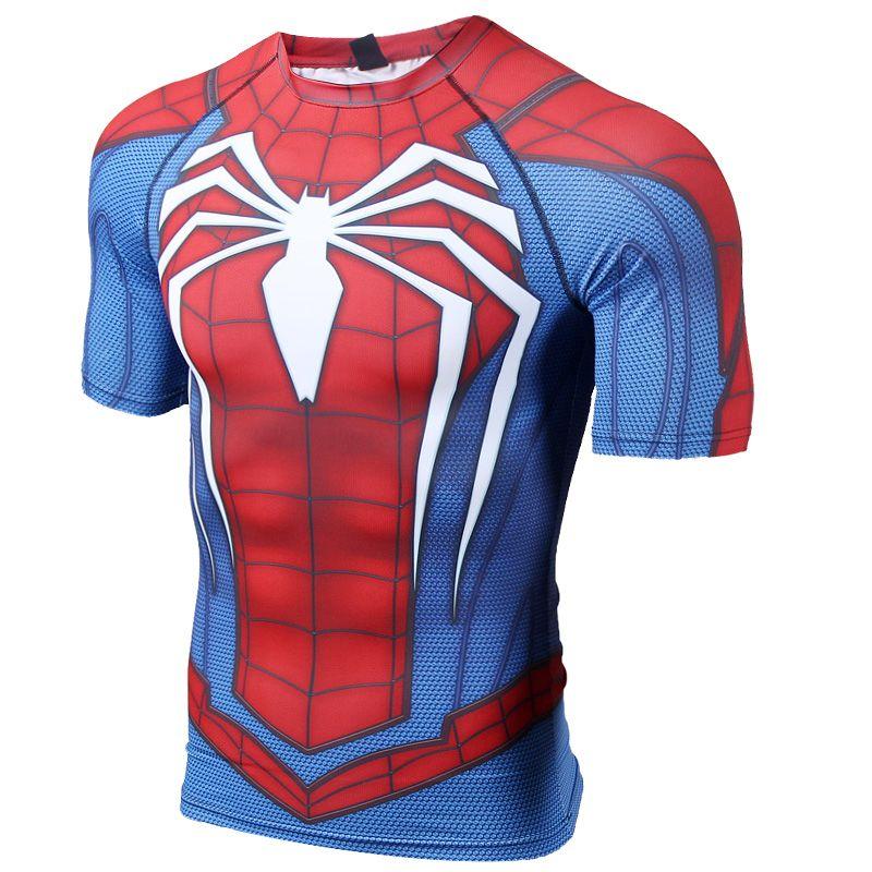 Rashguard Short Sleeves T Shirt Spider Man Spiderman 2017