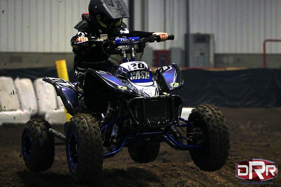Cash Jackson at the Battle of the Barn on his DRR DRX 50cc ...