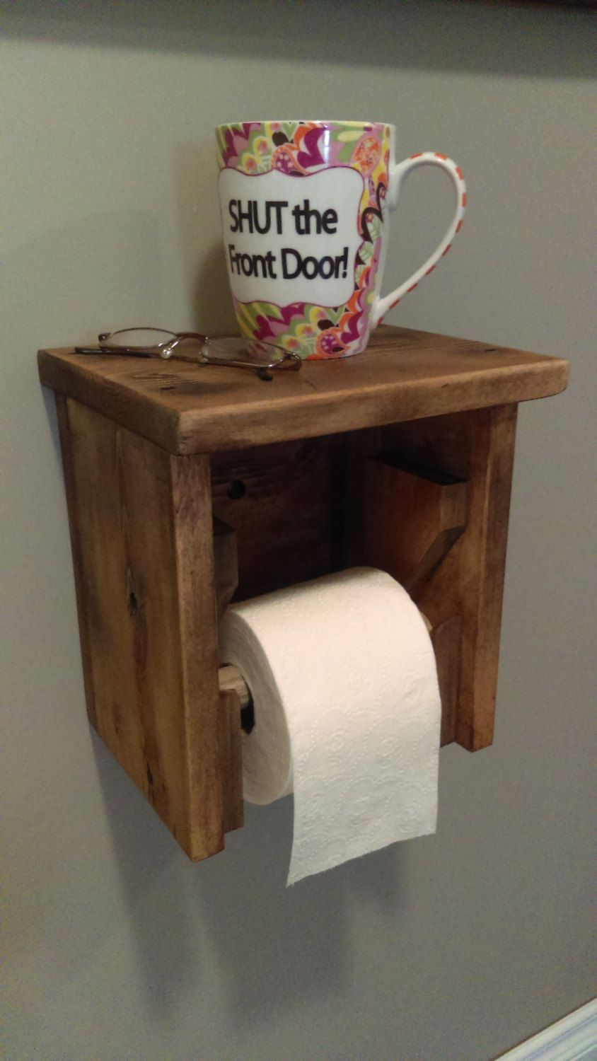 Rustic Toilet Roll Holder Toilet Paper Holder Weathered Barn Board Cabin Furnishings Cottage Accessories Bathroom Shelf Toilet Paper In 2020 Toilet Roll Holder Rustic Toilets Toilet Paper Holder