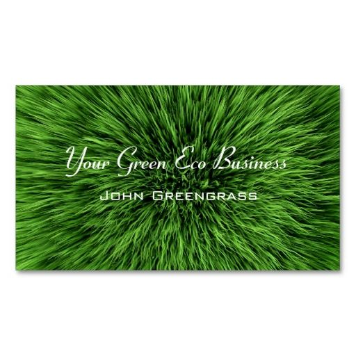 Green Grass Lawn Business Card Make Your Own With This Great Design