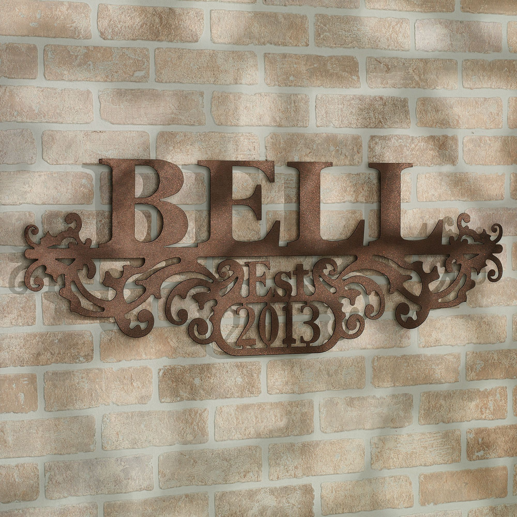 Personalized Wall Art Decor: Kinship Bronze Family Name And Year Personalized Metal