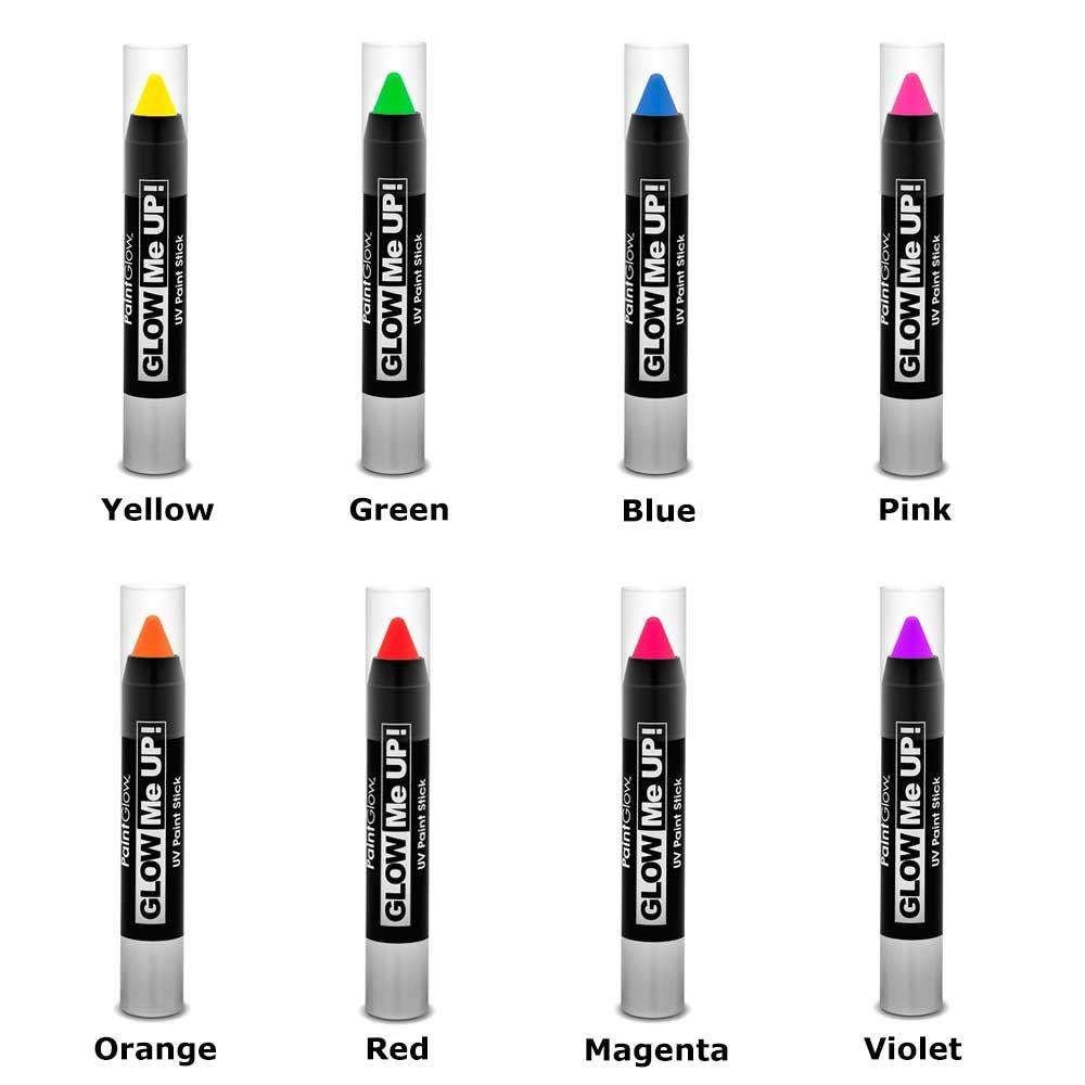 PaintGlow UV paint stick - make-up blacklight party   Attitude Holland
