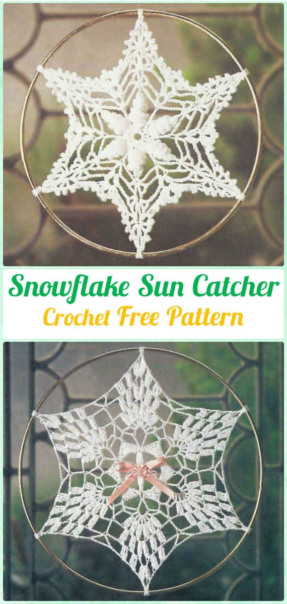 Crochet DreamCatcher & SunCatcher Free Patterns   Atrapasueños ...