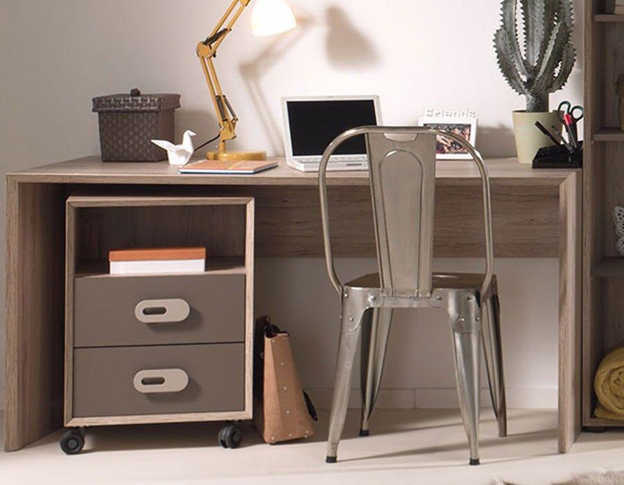 Caisson de bureau moderne couleur bois marron nolwen bureau