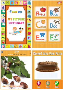 Free App Kids Picture Dictionary Educational apps for