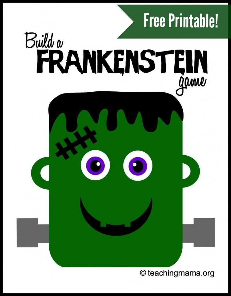 Build a Frankenstein Game | Frankenstein, Free printable and Gaming