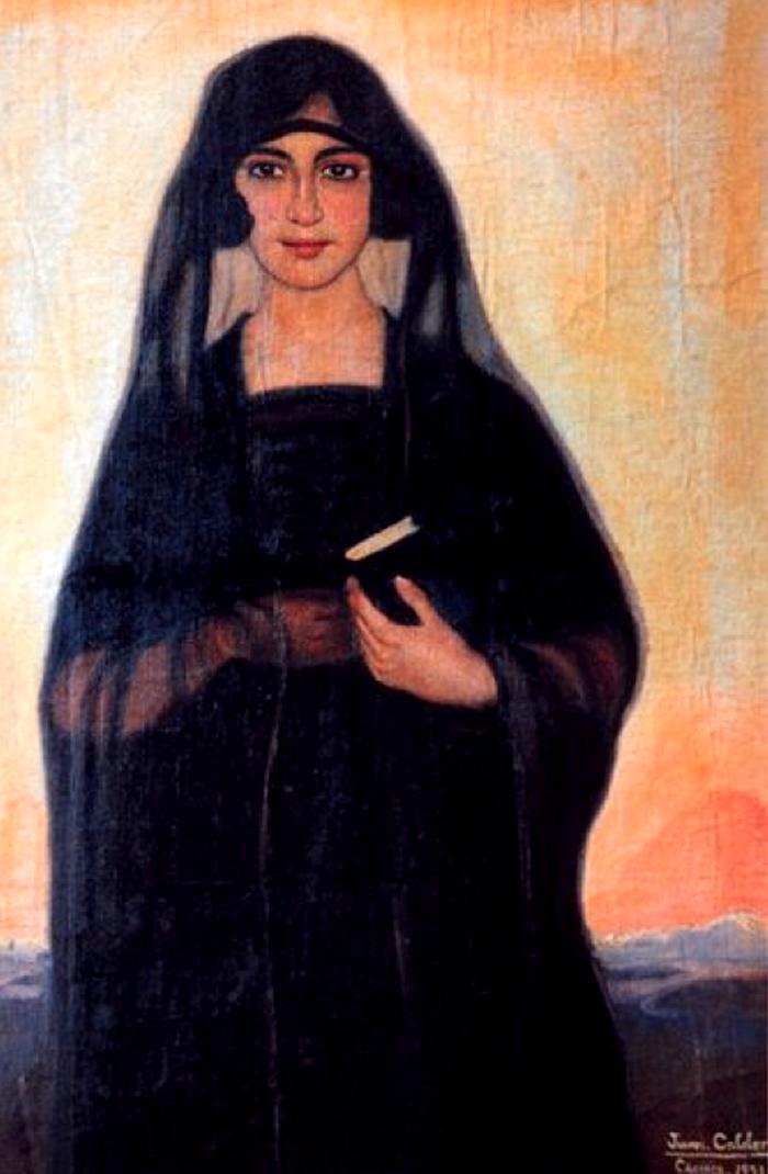 Juan Caldera Rebolledo (Cáceres, 1897 - 1946)...Mantilla de Tul