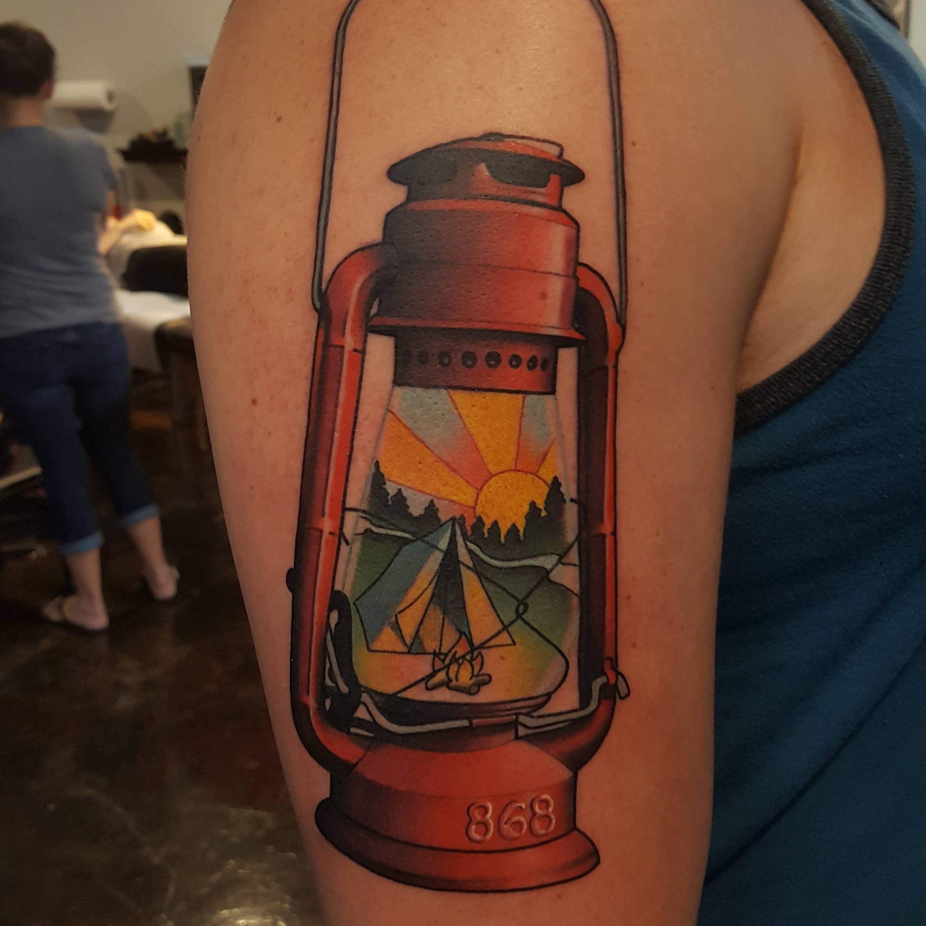 Camping lantern by brad dozier at black 13 in nashville tn