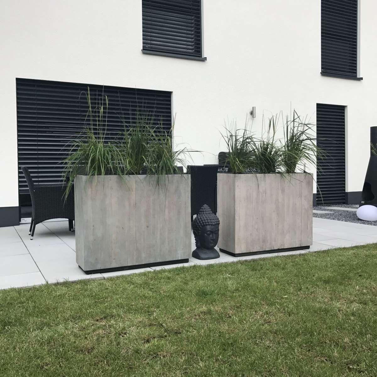 Pflanzkubel Raumteiler Zink Elemento Anthrazit In 2020 Garden Boxes Diy Planters Herb Garden Design