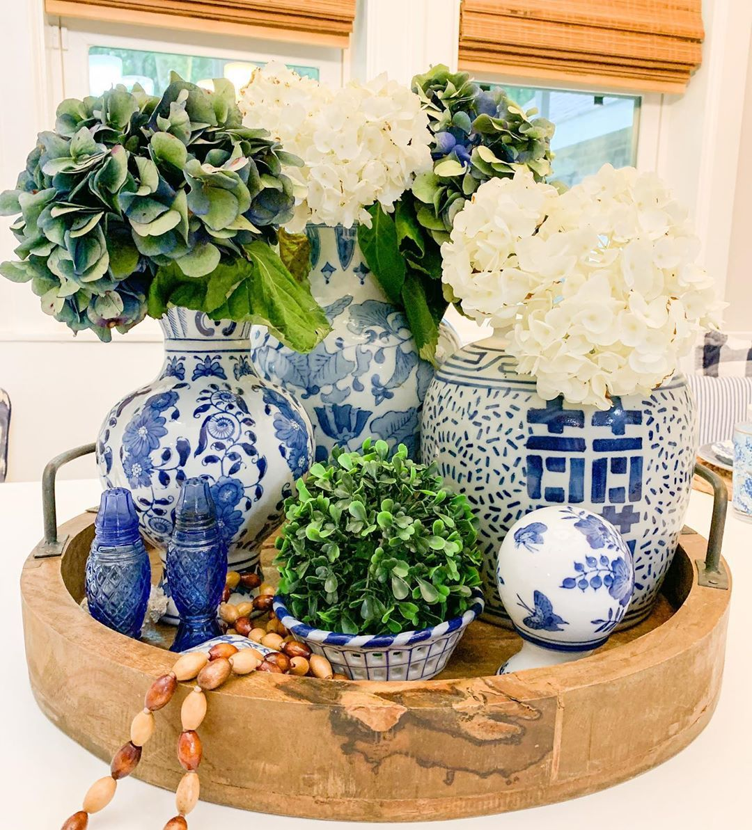 "Blue Bay Decor & Rentals on Instagram: ""Happy Rainy Friday! Get inside and play house!!! #kitchenislanddecor #centerpiecesideas #blueandwhitelove #blueandwhitedecor…"""