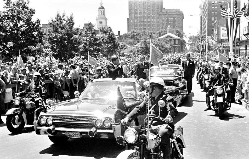 President Kennedy at 6th and Market August 1963 History