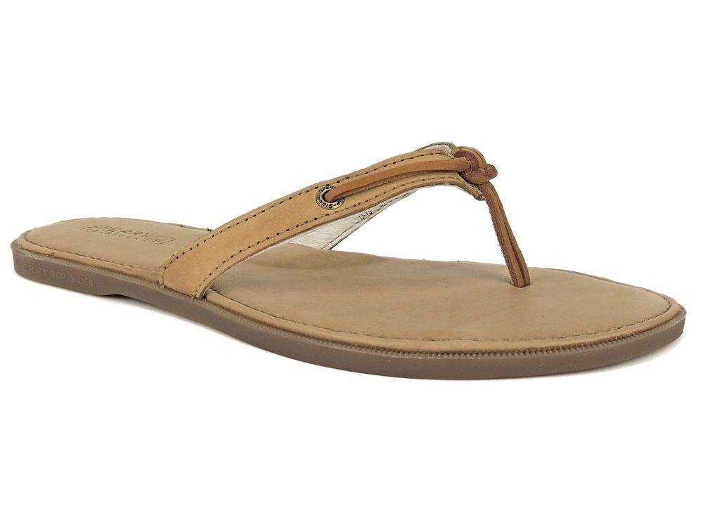 57a1aad017a4 Sperry Top-Sider Women s Calla Flip Flops Cognac Brown Thong Sandals Size  8.5 M  SperryTopSider  FlipFlops  CasualBeachSummer