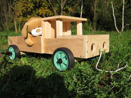 Big auto from wood for kids