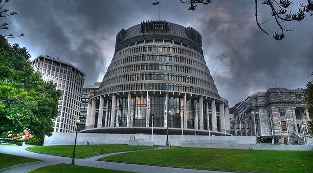 The Beehive | New Zealand Parliament by wiifm, via Flickr