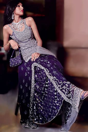 2dcb38ac54 BW6791 Lavender Gray Red & Federal Blue Lehenga Desi, Indian, Pakistani  dresses shopping in Britain, United Kingdom Bridal Wear