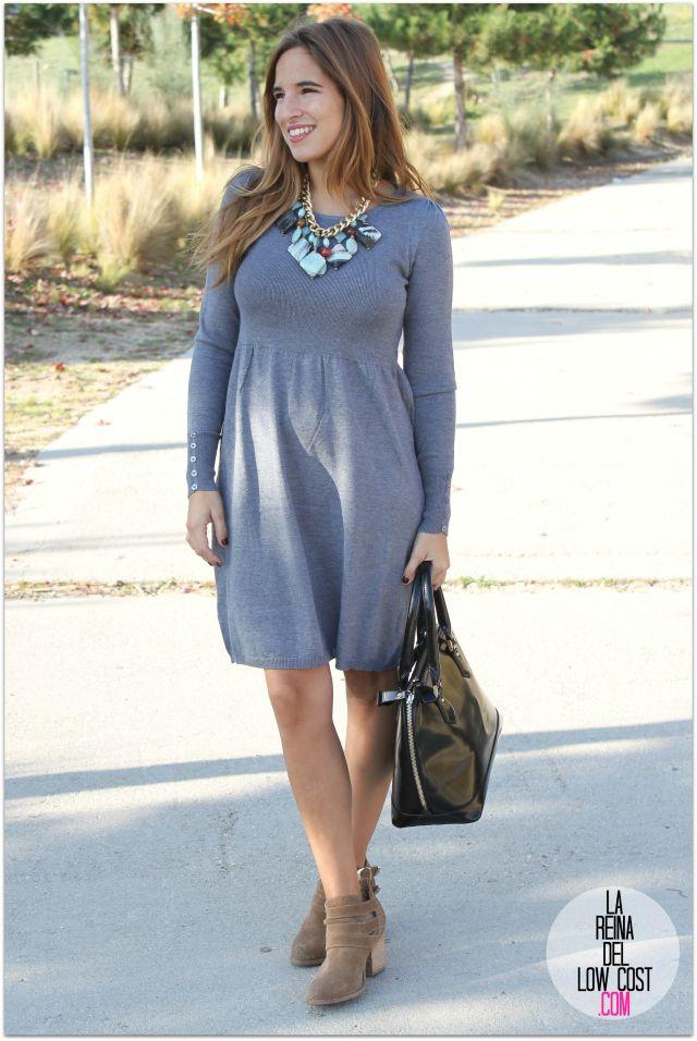 vestido gris punto  5a1e52eb140