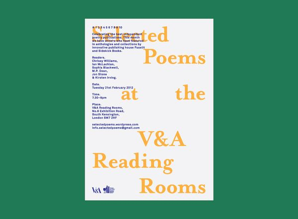 Selected Poems at the V&A 4 — Designspiration