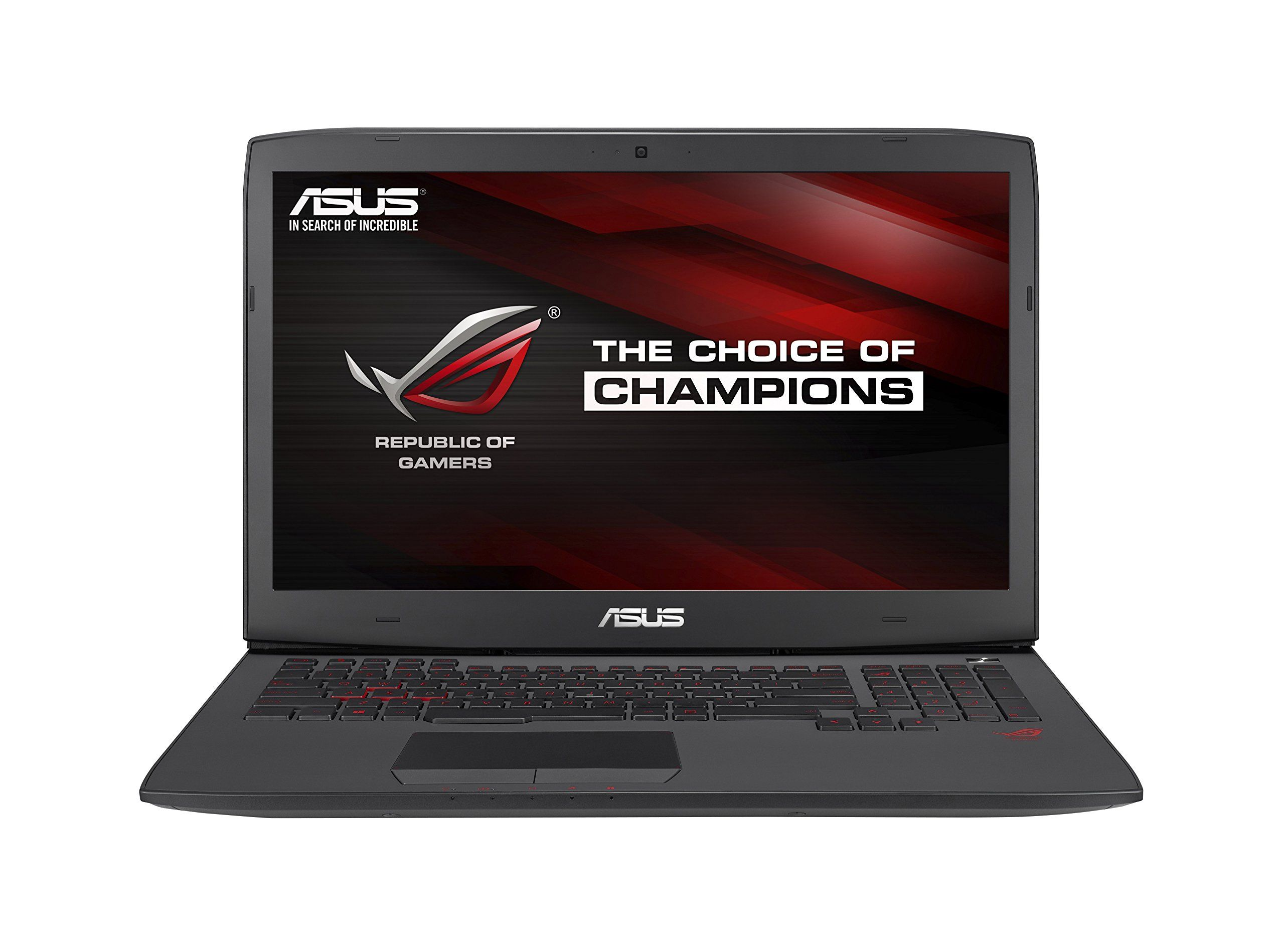 "ASUS G751JY 17-Inch Gaming Laptop [2014 model]. Intel Core i7-4720HQ 2.6GHz (turbo up to 3.6 GHz). 16 GB RAM. 1 TB 7200RPM Hard Drive. Plus 128GB SSD. NVIDIA GeForce GTX 980M with 4GB DDR5 VRAM (G-Sync). 17.3"" IPS 16:9 FHD matte display (1920x1080) with built in G-Sync hardware. Gigabit dual-band 802.11AC ultra-fast Wi-Fi. 10/100/10000 Gigabit Ethernet. 4x USB 3.0, 1x Thunderbolt 2, 1x HDMI, 1x VGA/Mini D-sub 15-pin, 1x SPDIF, 1x Headphone-out, 1x Mic-in. Intelligent Thermal Design, rear..."