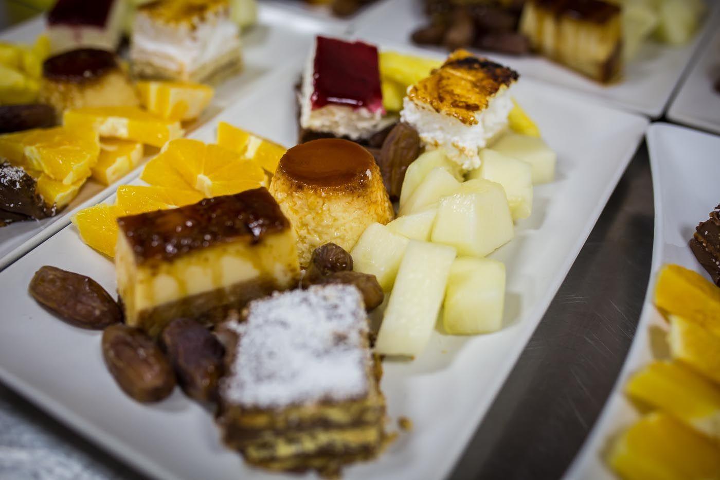 frutas y tartas