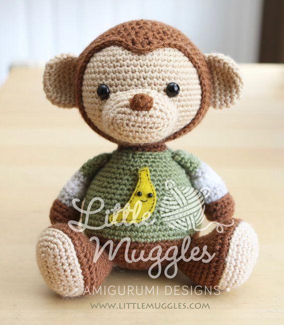 Amigurumi Crochet Pattern - Miles the Monkey | Pinterest | Affen ...