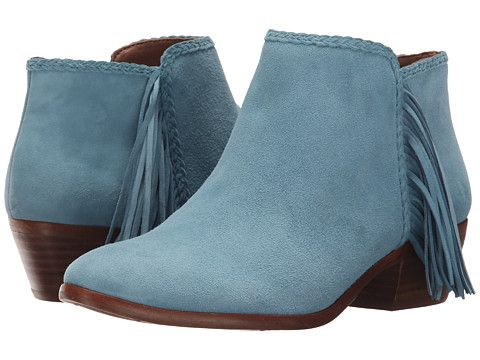 Womens Boots Sam Edelman Paige New Blue Kid Suede Leather