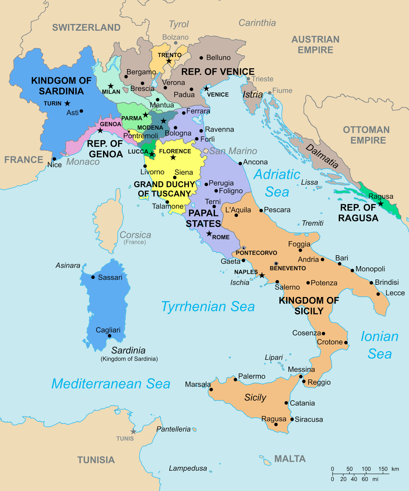 Map Of Italy In 1796 Italy Map Italy History Map