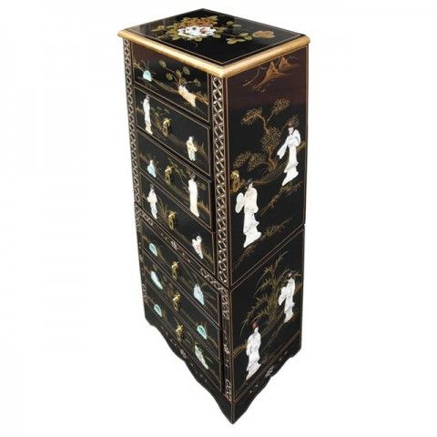 Chinese Black Jewellery Armoire Armoires Chinese furniture and