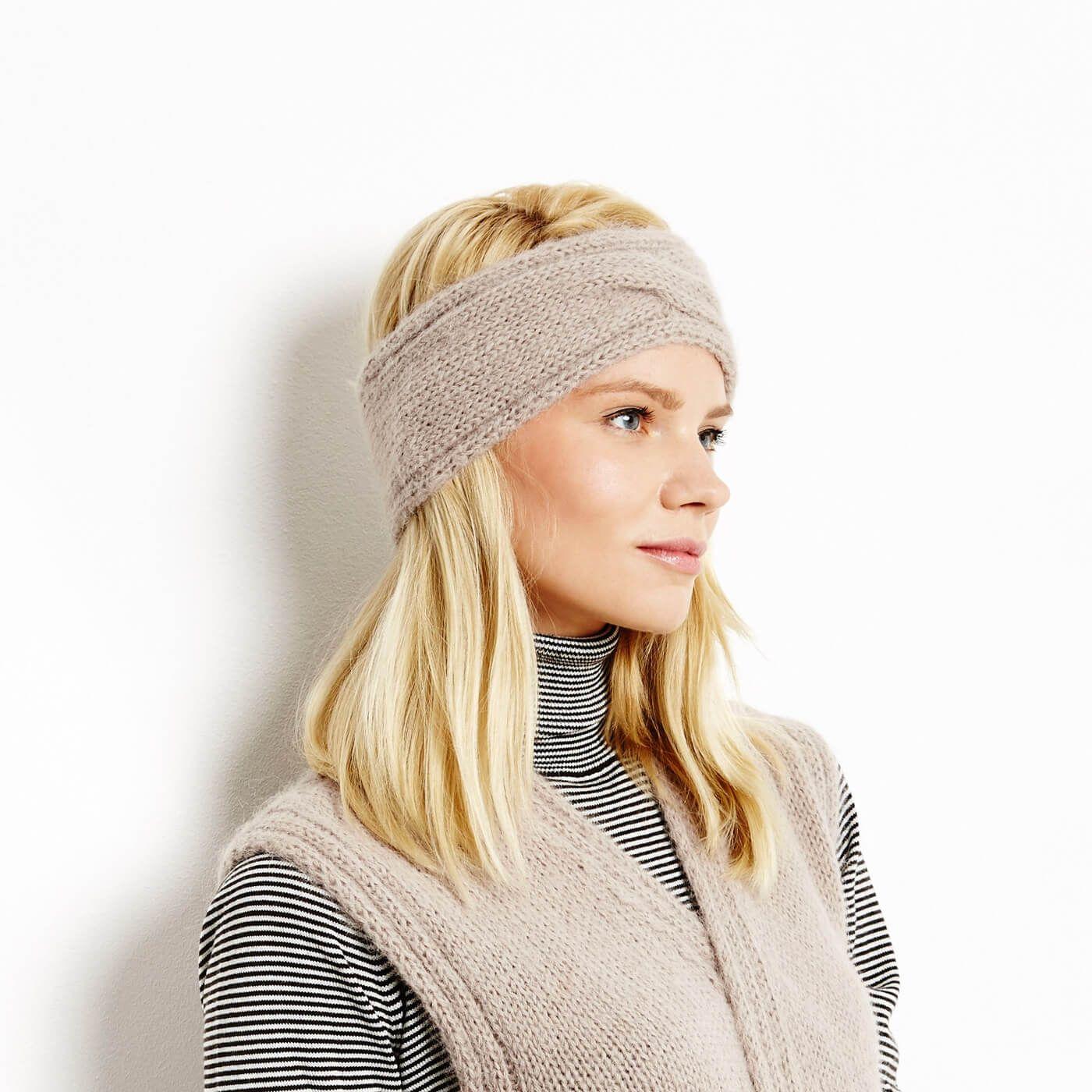 Stirnband mit Zopf - kostenlose Strickanleitung | Stricken im Herbst ...