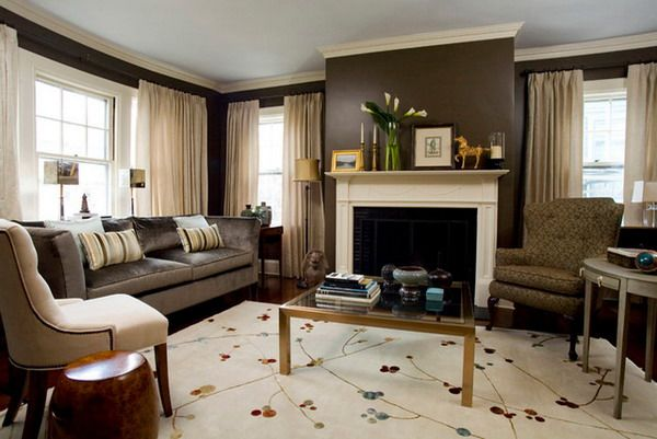 How to decorate a living room with a fireplace | Cool home ideas ...