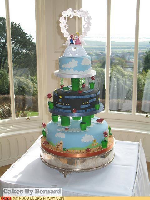 Mario Wedding Cake Super Mario Bros Crafts And More