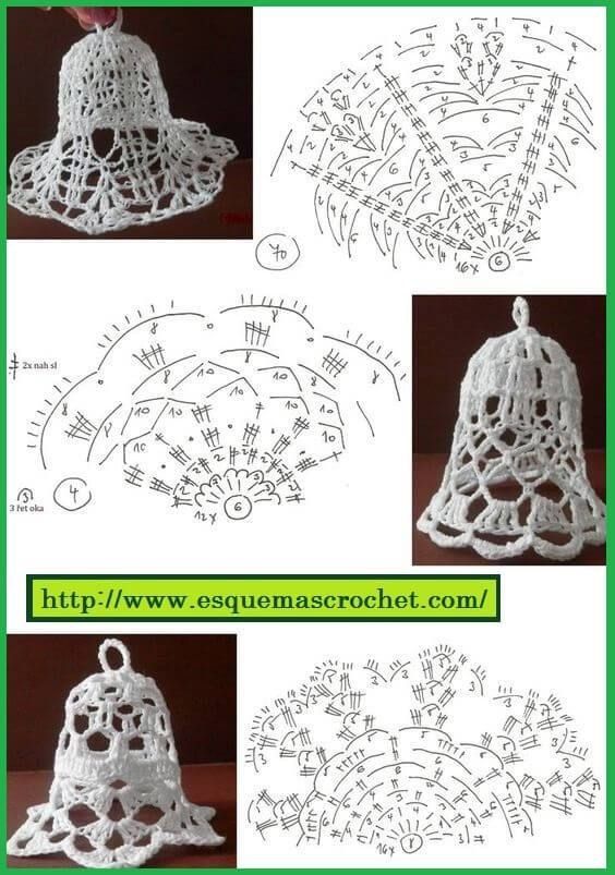 Esquema de crochet para artículos navideños | navidad | Pinterest ...