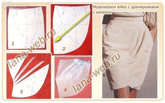 81a1f314e6a Ideas para el hogar  Varios moldes para realizar faldas con diseño drapeado