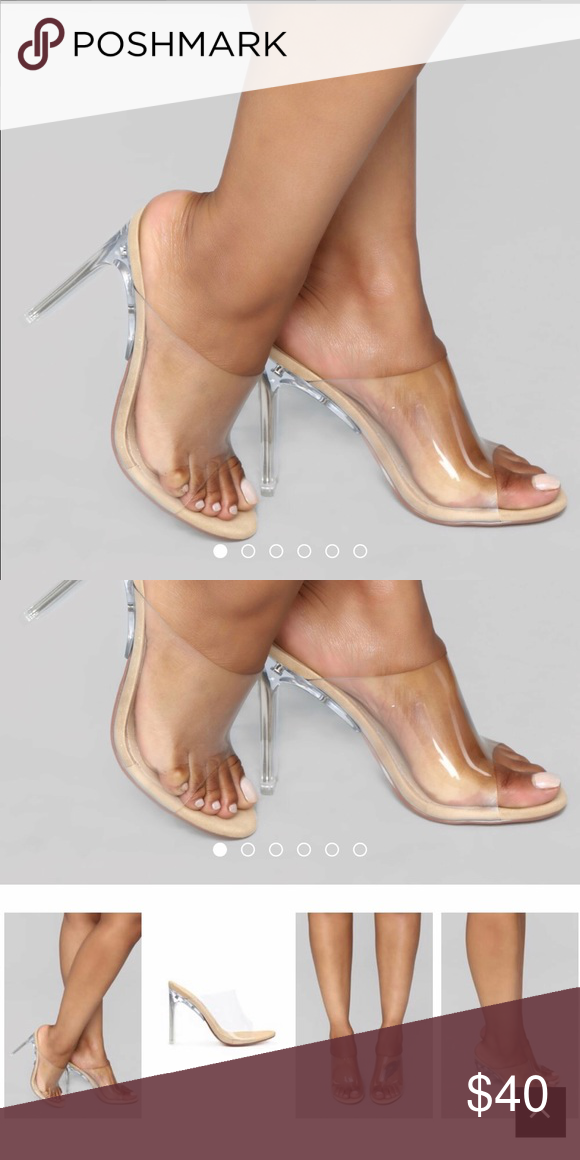 eab28ad6526 Transparent heels Transparent heels. Never worn. Only took out the ...