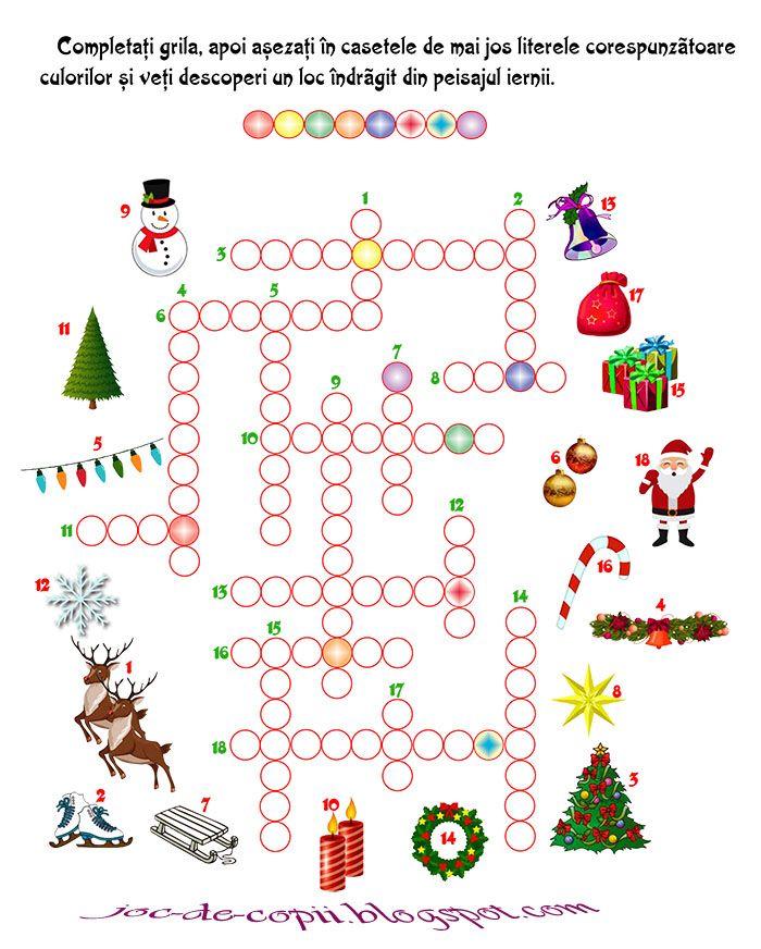 joc de iarn cuvinte iarna jocuri pentru copii pinterest copii pentru copii i. Black Bedroom Furniture Sets. Home Design Ideas
