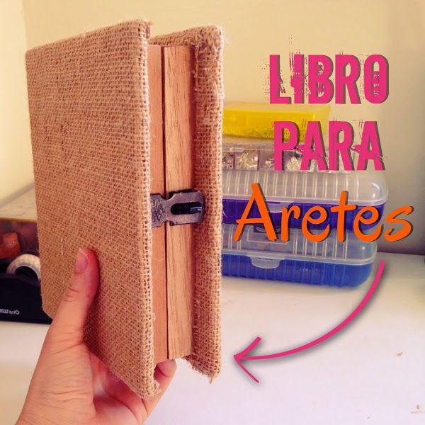 e16c3c8dbcbb Clutch o libro para aretes | Aprender manualidades es facilisimo.com ...
