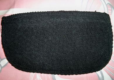 Vintage 1940s Black Crocheted Clutch Purse WWII Era Handbag $49.99 (includes shipping)