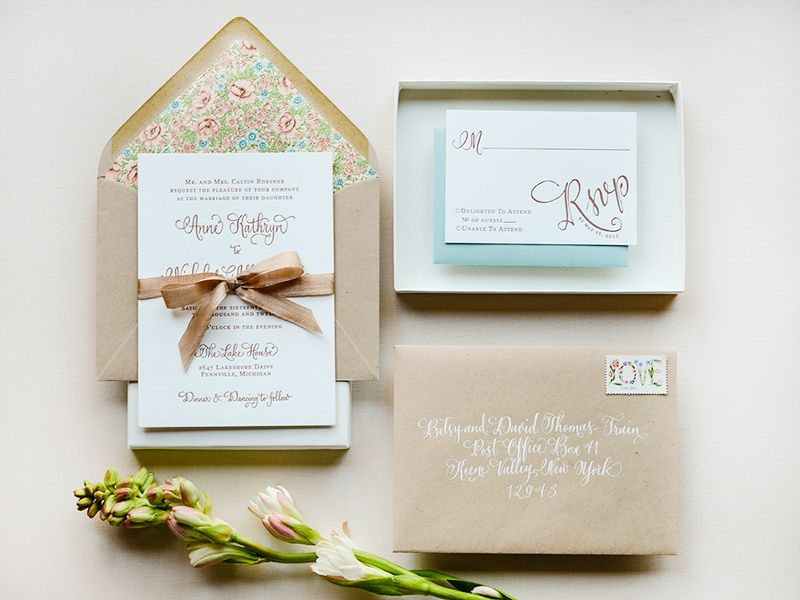Antiquaria Letterpress Wedding Invitation Collection via Oh So Beautiful Paper (10)