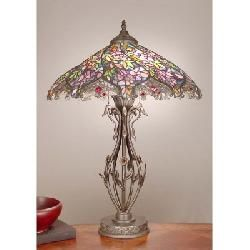 Dale Tiffany Tt101399 Evergreen Floral Tiffany Table Lamp With Images Stained Glass Table Lamps Tiffany Stained Glass Tiffany Style Lamp