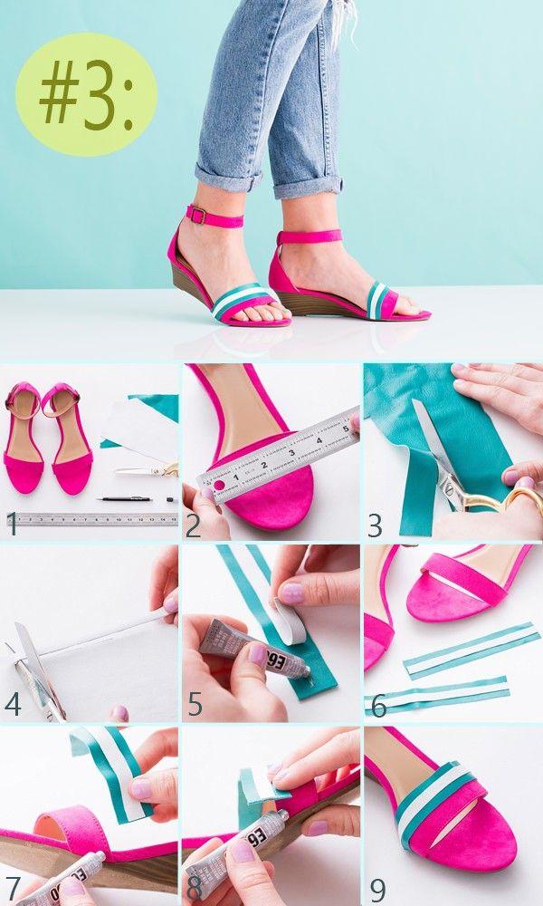3 ideas para decorar tus zapatos paso a paso solountip - Decorar cestas de mimbre paso a paso ...
