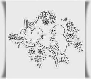 Kuş Boyama Resimleri 6 Nakış Embroidery Patterns Embroidery Ve