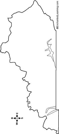 Outline Map Of Kentucky Flag Coloring Pages Kentucky State Flag