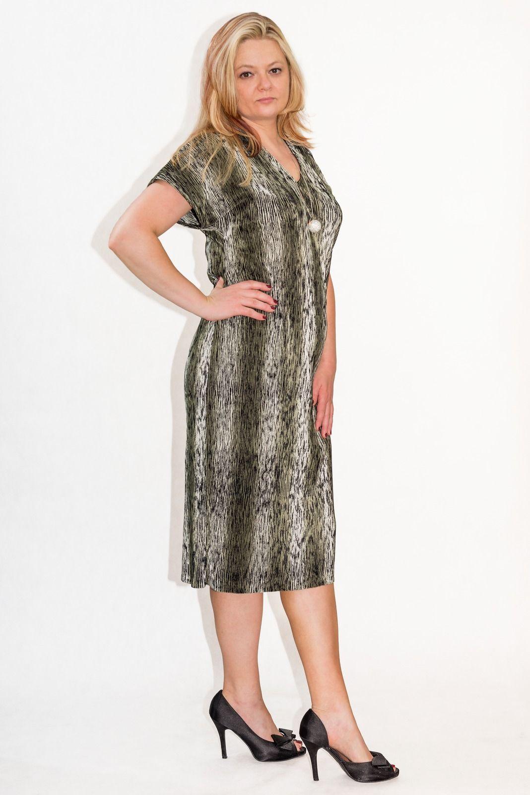 f6b897491066 Elegancka sukienka XXL MARIEL PLUS SIZE 40-60 duże rozmiary - XELKA ...