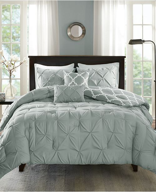 Madison Park Kasey Reversible 5 Pc Full Queen Comforter Set Reviews Bed In A Bag Bed Bath Macy S Comforter Sets Bedding Sets King Comforter Sets