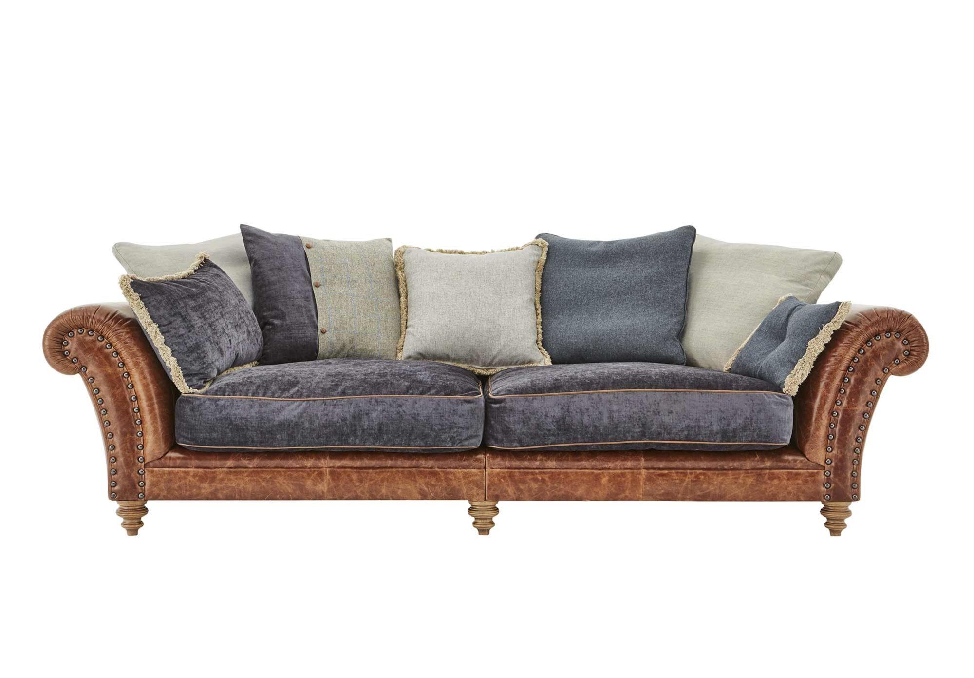 4 Seater Split Frame Leather Sofa Westwood Gorgeous Living