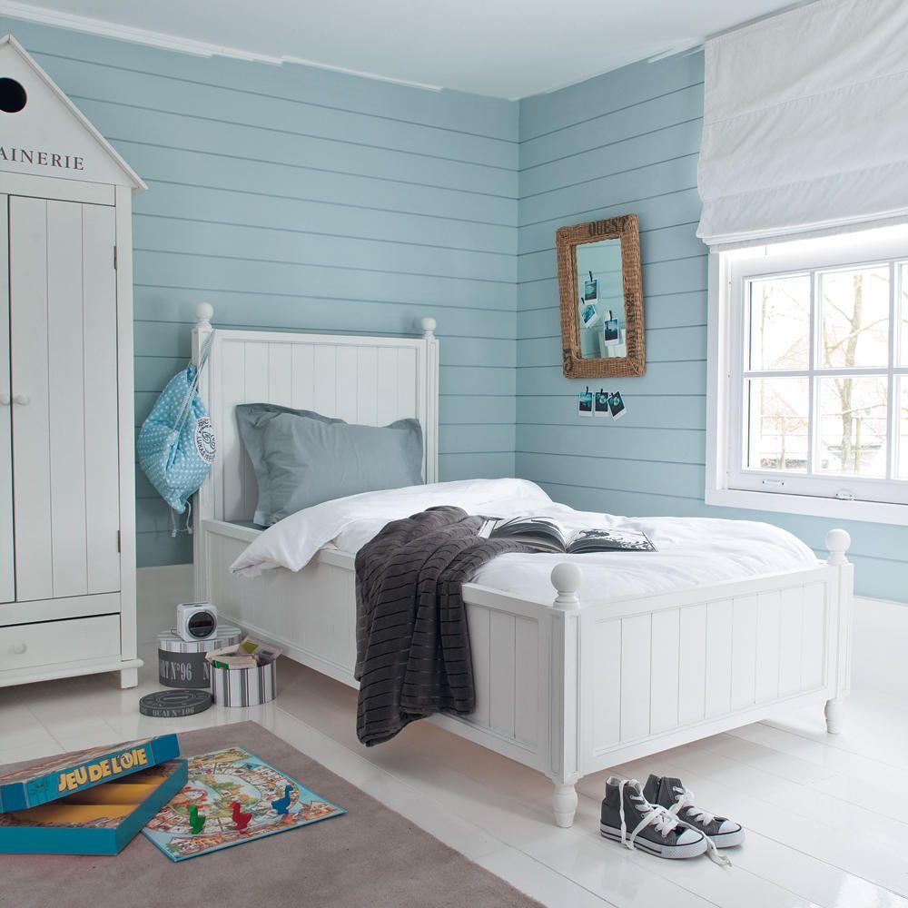 Cama 90 x 190 cm blanca habitaci n infantil dormitorio playa cama 1 plaza e camas - Maison du monde camere da letto ...