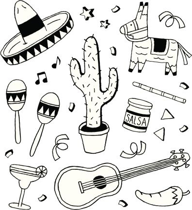 A Fiesta Themed Doodle Page