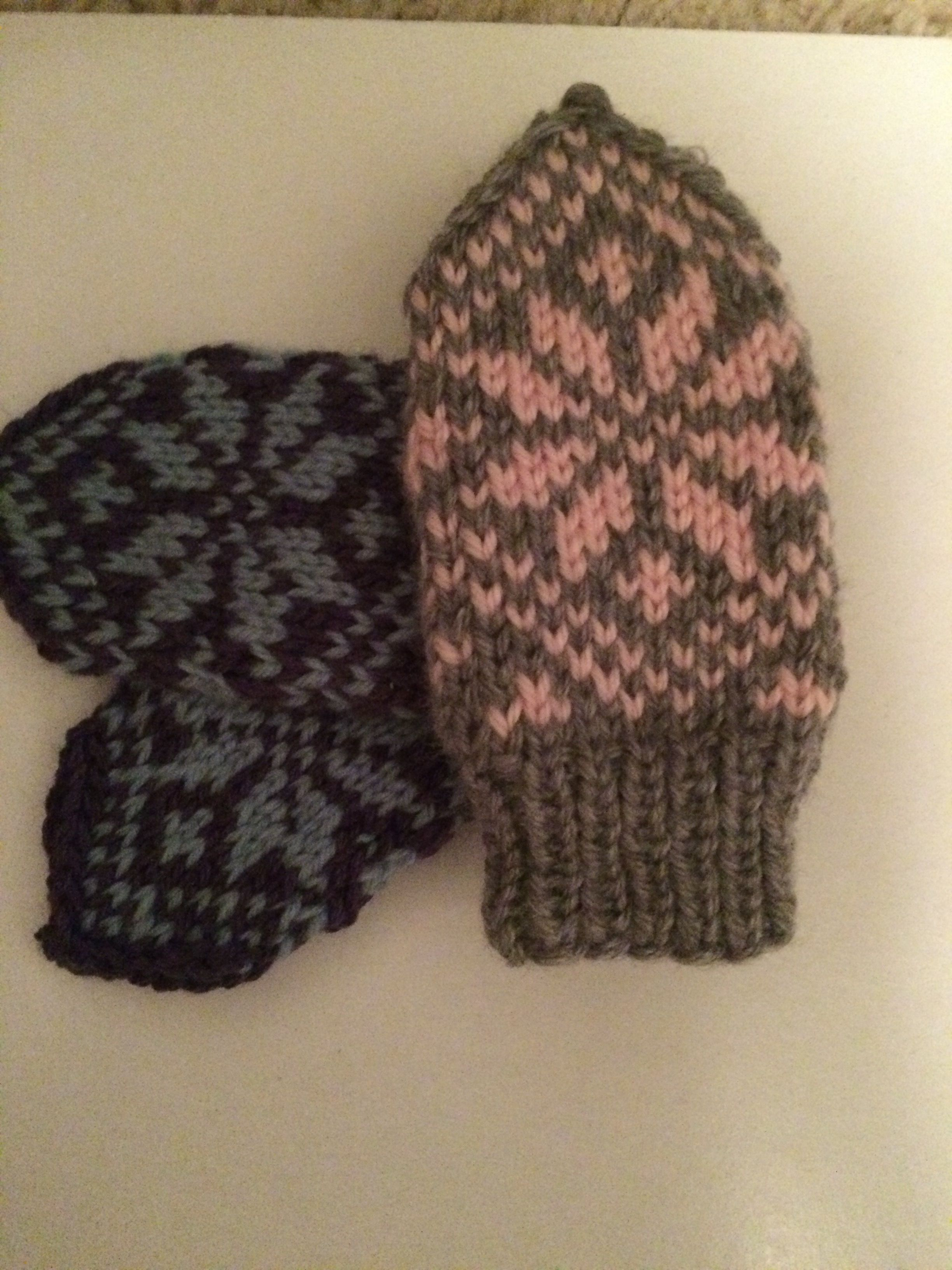 Thumbless baby mittens in my Etsy store soon. Fleece lined. https ...